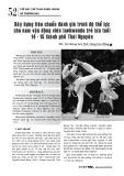 Xây dựng tiêu chuẩn đánh giá trình độ thể lực cho nam vận động viên taekwondo trẻ lứa tuổi 14 - 15 thành phố Thái Nguyên