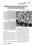 Nghiên cứu thực trạng thể chất nữ học sinh 6 tuổi tại thành phố Hồ Chí Minh