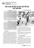 Thực trạng thể chất của học sinh tiểu học tỉnh Thanh Hóa