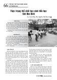 Thực trạng thể chất học sinh tiểu học tỉnh Hòa Bình