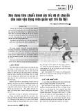 Xây dựng tiêu chuẩn đánh giá tốc độ di chuyển cho nam vận động viên quần vợt trẻ Hà Nội