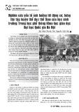 Nghiên cứu yếu tố ảnh hưởng tới động cơ, hứng thú tập luyện thể dục thể thao của học sinh trường Trung học phổ thông Khoa học giáo dục Đại học Quốc gia Hà Nội