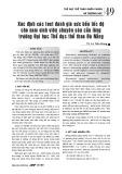 Xác định các test đánh giá sức bền tốc độ cho nam sinh viên chuyên sâu cầu lông trường Đại học Thể dục thể thao Đà Nẵng