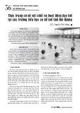 Thực trạng cơ sở vật chất và hoạt động dạy bơi tại các trường tiểu học có bể bơi tỉnh Hải Dương