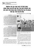 Nghiên cứu lựa chọn một số biện pháp nhằm nâng cao kết quả học tập môn chuyên sâu cho sinh viên bóng ném trường Đại học Sư phạm Thể dục Thể thao Hà Nội