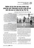 Nghiên cứu lựa chọn nội dung chương trình giảng dạy môn Taekwondo vào giờ tự chọn đối với sinh viên nam tại trường Đại học Phú Yên