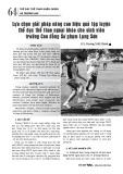 Lựa chọn giải pháp nâng cao hiệu quả tập luyện thể dục thể thao ngoại khóa cho sinh viên trường Cao đẳng Sư phạm Lạng Sơn