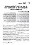 Ứng dụng các chỉ số y sinh trong đánh giá lượng vận động buổi tập cho vận động viên cấp cao môn Điền kinh