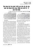 Ứng dụng bài tập phát triển sức bền tốc độ cho nam vận động viên chạy 100m lứa tuổi 16 - 17 tỉnh Thái Bình
