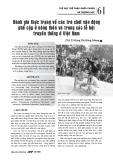 Đánh giá thực trạng về các trò chơi vận động phổ cập ở nông thôn và trong các lễ hội truyền thống ở Việt Nam