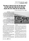 Ứng dụng và đánh giá hiệu quả giải pháp nâng cao chất lượng hoạt động câu lạc bộ bóng chuyền sinh viên trường Đại học Quảng Nam