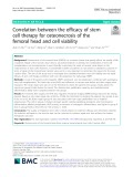 Correlation between the efficacy of stem cell therapy for osteonecrosis of the femoral head and cell viability