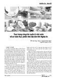 Thực trạng công tác quản lý nhà nước về an toàn thực phẩm trên địa bàn tỉnh Nghệ An