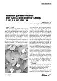 Nghiên cứu quy trình công nghệ chiết tách các chất flavonoid và sterol từ cây diếp cá tỉnh Nghệ An