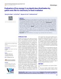 Evaluation of low energy X-ray depth dose distribution by gafchromic film for dosimetry in food irradiation