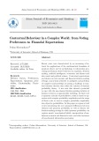 Contextual behaviour in a complex world: From voting preferences to financial expectations