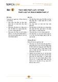 Bài giảng Lý luận Nhà nước và pháp luật - Bài 5: Thực hiện pháp luật, vi phạm pháp luật và trách nhiệm pháp lý