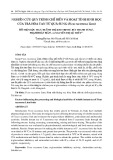Nghiên cứu quy trình chế biến và hoạt tính sinh học của trà hòa tan từ quả sung (Ficus racemosa Linn)