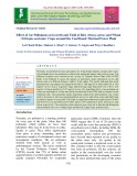 Effect of air pollutants on growth and yield of rice (Oryza sativa) and wheat (Triticum aestivum) crops around the coal based thermal power plant
