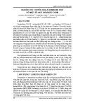 Nghiên cứu chuyển hóa zerumbone oxit với một số axit hydrazid thơm
