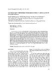 Xây dựng quy trình phân tích hàm lượng 17 amino acid từ cua lột Scylla sp.