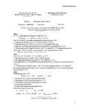 Đề thi kết thúc học kỳ II năm học 2014-2015 môn Hóa học đại cương 2 (Đề số 1) - ĐH Khoa học Tự nhiên