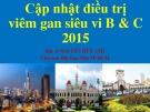 Bài giảng Cập nhật điều trị viêm gan siêu vi B và C 2015 - BS. Nguyễn Hữu Chí