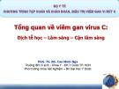 Bài giảng Tổng quan về viêm gan virus C: Dịch tễ học - lâm sàng - cận lâm sàng