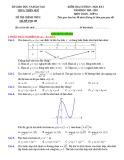 Đề thi học kì 1 môn Toán 12 năm 2020-2021 có đáp án - Sở GD&ĐT Thừa Thiên Huế