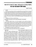 Một số vấn đề từ thực tiễn quản lý hoạt động của tạp chí Kinh tế đối ngoại