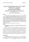 Khảo sát hoạt tính kháng oxi hóa của catechin chiết xuất từ lá trà xanh