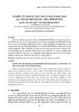 Nghiên cứu khung tiêu chuẩn nhà ở sinh thái tại thành phố Thủ Dầu Một, Bình Dương