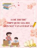 11 đề thi thử THPT Quốc gia 2021 môn Ngữ văn (Có đáp án)
