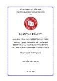 Luận văn Thạc sĩ Kinh tế quốc tế: Giải pháp nâng cao chất lượng sản phẩm dịch vụ thanh toán quốc tế và tài trợ thương mại tại ngân hàng Công Thương Việt Nam với doanh nghiệp xuất nhập khẩu