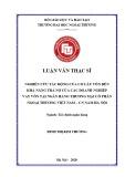 Luận văn Thạc sĩ Tài chính ngân hàng: Nghiên cứu tác động của cơ cấu vốn đến khả năng trả nợ của các doanh nghiệp vay vốn tại Ngân hàng Thương mại Cổ phần Ngoại thương Việt Nam – CN Nam Hà Nội