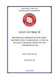 Luận văn Thạc sĩ Tài chính ngân hàng: Biện pháp quản trị rủi ro tín dụng trong hoạt động cho vay khách hàng cá nhân tại Ngân hàng TMCP Quốc Tế Việt Nam – Chi nhánh Láng Hạ