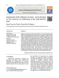Assessment of the influence of water - level elevation in the reservoir on settlement of the hydroelectric dam