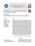 Application of the K - nearest neighbors algorithm for predicting blast - induced ground vibration in open - pit coal mines: A case study