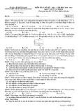 Đề thi học kì 1 môn Vật lí 11 năm 2020-2021 có đáp án - Trường THPT chuyên Huỳnh Mẫn Đạt (Khối cơ bản)