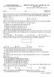 Đề thi học kì 1 môn Vật lí 11 năm 2020-2021 có đáp án - Trường THPT chuyên Huỳnh Mẫn Đạt (Khối chuyên)