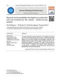 Nghiên cứu khả năng sử dụng cát biển trong xử lý nền đất yếu bằng phương pháp cọc gia cố xi măng