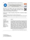 Nghiên cứu tính chất cơ lý của bê tông cường độ cao sử dụng hỗn hợp phụ gia tro bay và silica fume phục vụ xây dựng công trình hạ tầng khu vực ven biển