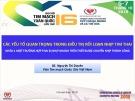 Bài giảng Các yếu tố quan trọng trong điều trị rối loạn nhịp tim thai - BS. Nguyễn Thi Duyên