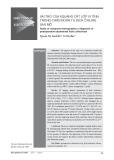 Vai trò của X quang cắt lớp vi tính trong chẩn đoán tụ dịch ổ bụng sau mổ