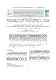 Identifying the role of determinantsand indicators affecting climate change adaptive capacity in Da Nang city, Vietnam
