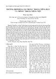 """Trường hợp đồng âm """"Hong"""" trong tiếng Hán và """"Hồng"""" trong tiếng Việt"""