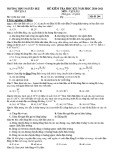 Đề thi học kì 1 môn Vật lí 11 năm 2020-2021 có đáp án - Trường THPT Nguyễn Huệ