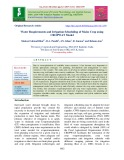 Water requirements and irrigation scheduling of maize crop using CROPWAT model