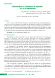 Determination of Phytosterols in vegetable oils by GC-MS method