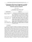Evaluating the effectiveness of integrated Accounting Information Systems (AIS) in ERP environment of Vietnamese garment companies